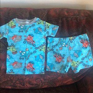 Kids pajamas with various fish prints